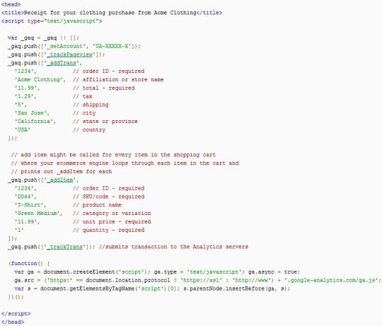 ecommerce-tracking-code