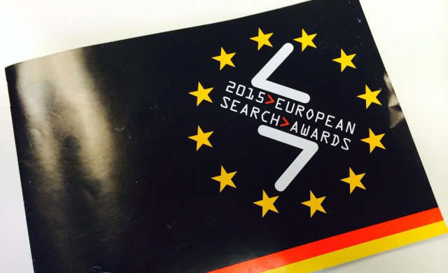 Image of EU Search Awards Berlin 2015 brochure