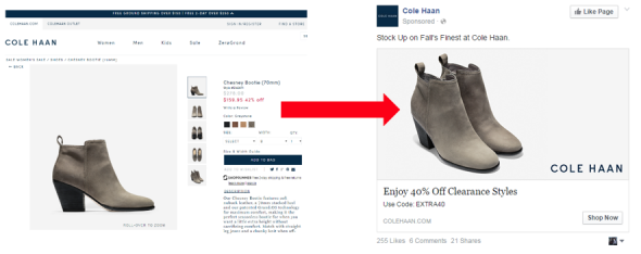 Screenshot to illustrate paid social article