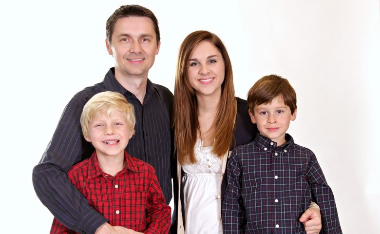 Stock photo of family