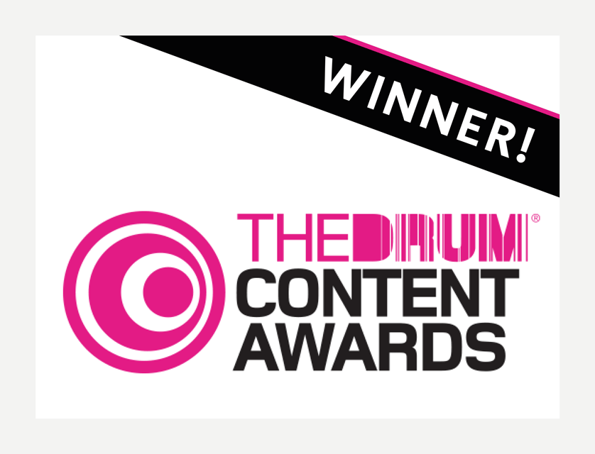 Further win at The Drum Content Awards
