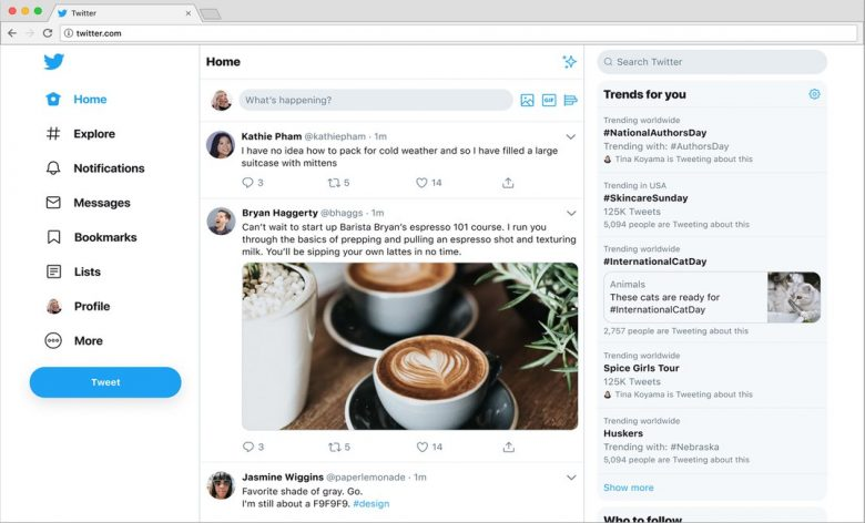 twitter redesign july 2019